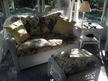 Wicker Loveseat, rocker in Bartlett, Illinois