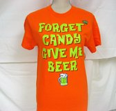Halloween GLOW Trick or Treat Beer Pumpkin Jack Lantern T Shirt Fitted Casual Small in Kingwood, Texas