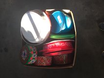 Holiday cookie tins in Fort Lewis, Washington