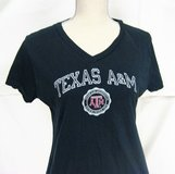 Texas ATM Aggies Russell M Black NCAA Women T-shirt Knit Jersey Graphic in Kingwood, Texas