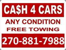 Cash for junk cars in Fort Campbell, Kentucky