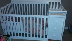 convertible crib with changing table in Clarksville, Tennessee