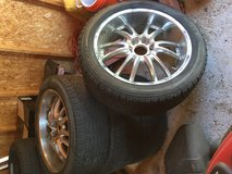 285/45/22 VCT chrome rims & tires in Lawton, Oklahoma