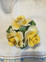 English Yellow Rose China Figurine in Fort Campbell, Kentucky