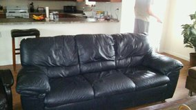 Leather couch in Fort Bliss, Texas