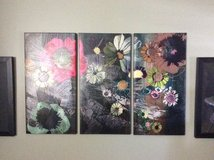 3 piece flowers on canvas in Camp Pendleton, California