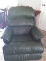 Green leather recliner in Conroe, Texas