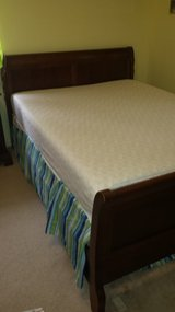 cherry queen size bed frames-real  wood in Wilmington, North Carolina