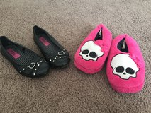 Girls shoes/ monster high slippers size 2 in Lake Elsinore, California