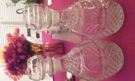 2 Crystal Wine Decanters in Beaufort, South Carolina