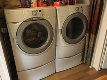 Whirlpool front loader washer and dryer in Baytown, Texas