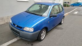 Arizona blue Seat Arosa with new inspection in Ansbach, Germany