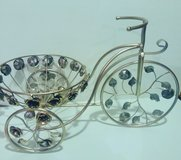 Silver Bicycle Bowl Holder in Fort Campbell, Kentucky