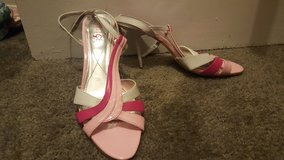 Pink/White Strappy Heels in Columbus, Ohio