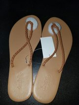 Brown Braided Thong Sandals in Nellis AFB, Nevada