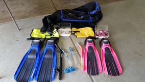 SNORKELING GEAR (HIS & HERS) GREAT CONDITION. in Joliet, Illinois