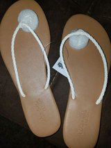 White Braided Thong Sandals in Nellis AFB, Nevada