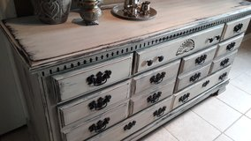 Rustic Cream and Grey Dresser in Kingwood, Texas