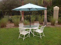Patio Table Chairs Umbrella in Beaufort, South Carolina