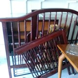 Crib to college cherry wood set with shelf. Mattress and cover included in Beaufort, South Carolina