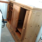 Solid wooden entertainment center. in Beaufort, South Carolina