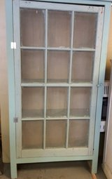 Vintage style aqua cabinet in The Woodlands, Texas