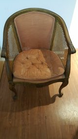 Vintage cane back chair in Naperville, Illinois