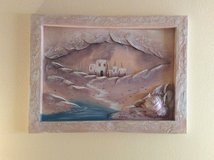 3D Southwestern wall hanging, in blues and beiges.  Pick up only. in Las Vegas, Nevada