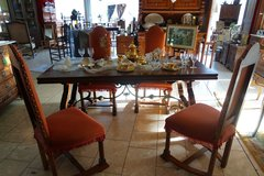 elegant French dining room set with 4 chairs in Spangdahlem, Germany