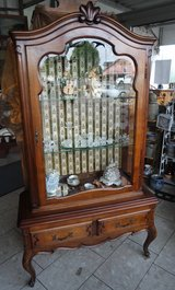 beautiful solid walnut display cabinet in Baumholder, GE