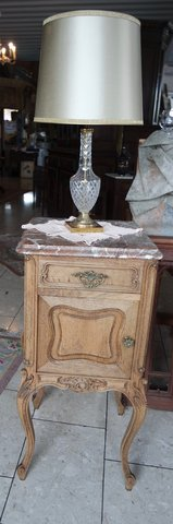 beautiful French Louis XV style night stand with red marble top in Ramstein, Germany