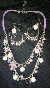 Pink and purple necklace and earrings in Alamogordo, New Mexico