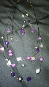 Purple and silver beads necklace in Alamogordo, New Mexico