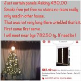 Very Nice expensive curtains set. See details in Lackland AFB, Texas