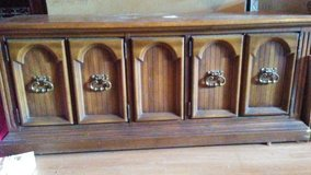 Antique Entertainment Stand with Storage in Kingwood, Texas