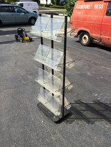 """16 TITLE ROTATING MAGAZINE RACK  55"""" tall 19.5"""" wide 12"""" deep in Chicago, Illinois"""