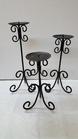 "Kirkland's Metal Candle Holder Set 9"",10.5"",12.5"" in Kingwood, Texas"