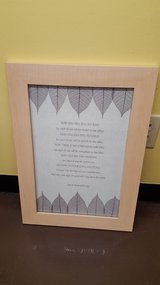 "Beautful Solid Wood Frame Inspirational Picture 15.5 x 20.5"" in Kingwood, Texas"
