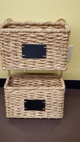 "Wicker Mazagine/Mail Wall Holder With Chalkboard Label 12""x21"" in Kingwood, Texas"