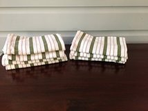 Set of 7 White and Green Williams Sonoma Kitchen Towels in Naperville, Illinois
