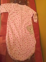 Carters Baby Girl pink sleeper sz 0-9m Like new in Morris, Illinois