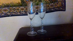 Two Champin Glasses in Lake Elsinore, California