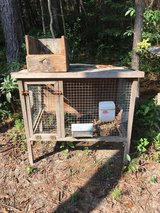 Rabbit cages in DeRidder, Louisiana