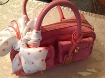 Pink leather purse in Hohenfels, Germany