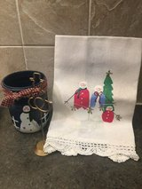 Snowman gift trio in Wheaton, Illinois