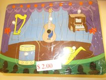 MUSICAL INSTRUMENTS WOODEN PUZZLE in Joliet, Illinois