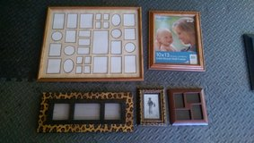 Five picture frames in Lawton, Oklahoma