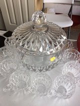 Nachtmann 12 cup crystal large punch bowl in Fort Leonard Wood, Missouri