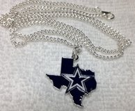 Dallas Cowboys New Charm Pendant Star in State of Texas on Stainless Chain Guys or Gals in Kingwood, Texas