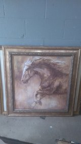 """Framed horse picture 36""""×34"""" in Perry, Georgia"""